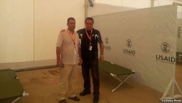 Cuban medics in a USAID hospital in Monrovia, Liberia