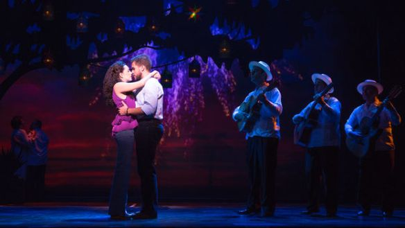 Ana Villafañe and Josh Segarra in the roles of Gloria and Emilio Estefan (On Your Feet!)